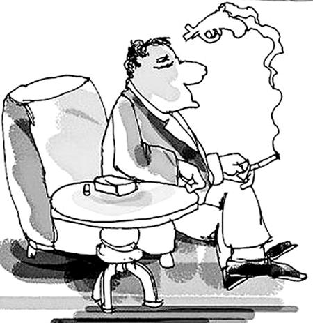 吸烟卡通简笔画
