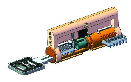 鎖芯原理結構圖