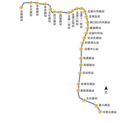 地铁4号线线路示意图制图/杨芳芳