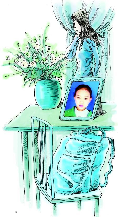 小孩上课背影手绘图