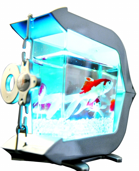 鱼缸内建的usb接口可为过滤器提供动力,亦可控制气泡的产生量和水温等