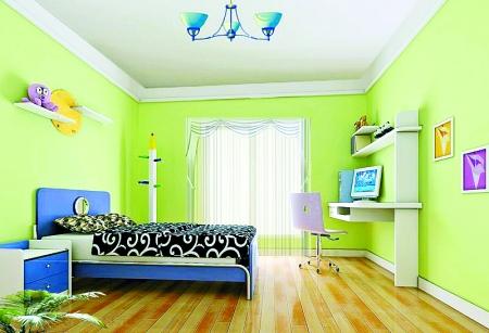 兒童綠色主題臥室