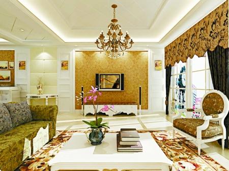 深浅色搭配的时尚沙发与装饰品的巧妙摆放