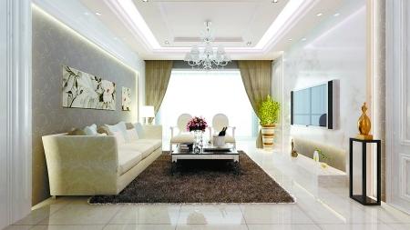 60平米两室一厅装修图 一套60多平方米的小户型效果图