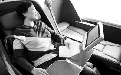 动车座椅扶手调节内部结构