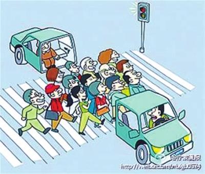 """和红绿灯无关""""的""""中国式过马路"""""""