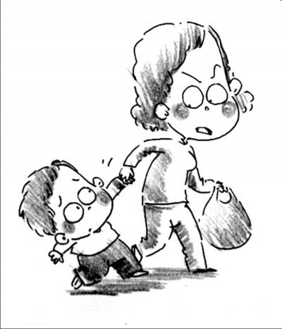 儿童穿衣服手绘