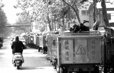 改装自制垃圾桶提升机