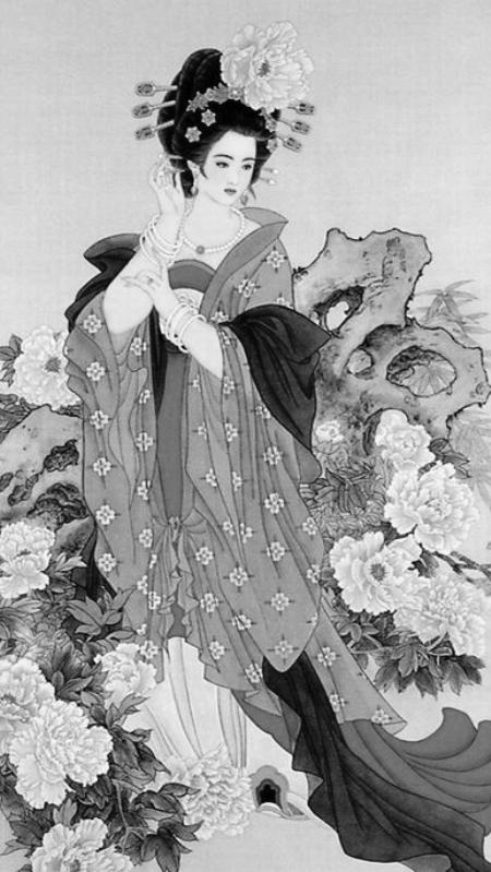 中国古代四大美女之羞花