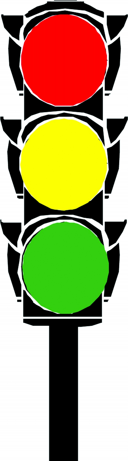 转盘红绿灯通行图解