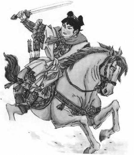 中国古代经典女军人形象图片