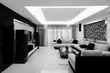 室内设计灰色地板