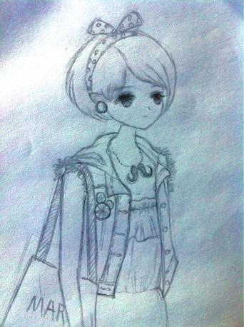 服装铅笔画设计图
