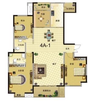家乡三室俩厅俩层的房子外面设计图展示