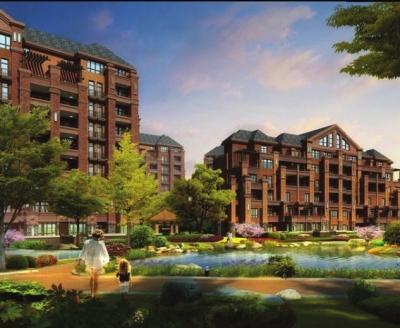小区的建筑为简欧式建筑风格,外观典雅,大气,极具时尚气息.