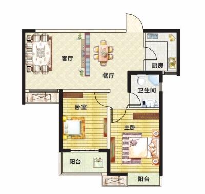 同时,在选择小户型房屋时,还需要关注一下该套房屋的总价.