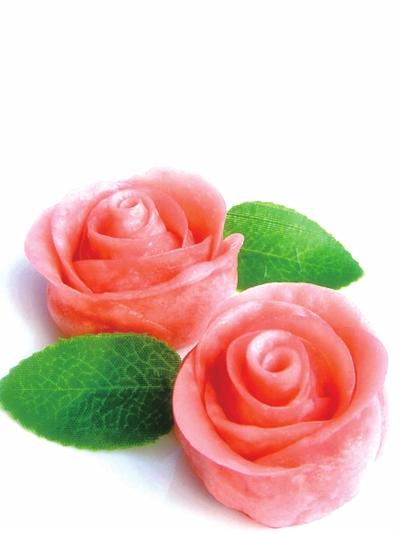 圆型一朵玫瑰图片手绘