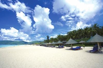 海南三亚冬季季风景图