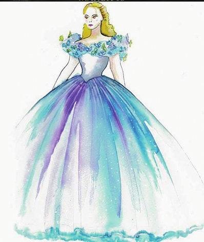 """设计这条""""最灰姑娘""""的裙子时"""