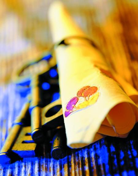 幼儿园的时候,每个小朋友的左胸口,都有一枚别针,将手绢叠成竖长