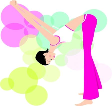 ai   矢量运动素材 运动 健身 可爱女孩; 年轻人休闲健身ai(图片70)