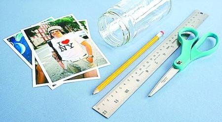 学习变废为宝的diy技巧吧,打造简约又个性的玻璃瓶罐相框和碎花收纳盒