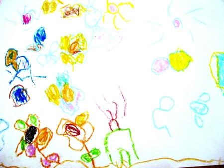 幼儿园放涂鸦板的涂鸦墙图片_