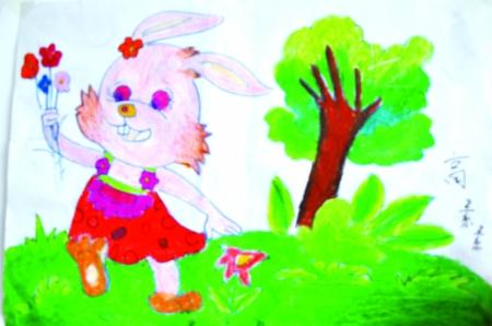幼儿园环境创设小鲤鱼涂鸦